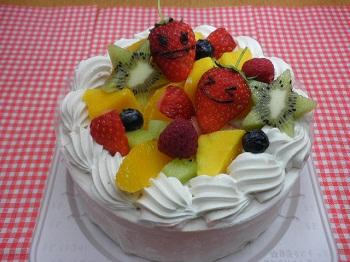 アレルギー対応ケーキ フルーツ